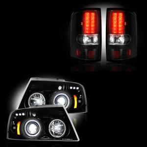 RECON - Ford F-150 2004-08 Recon Smoked Headlights & Tail Lights Lighting Package