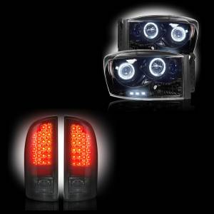 RECON - 2006 Dodge Ram Recon Smoked Headlights & Tail Lights Lighting Package