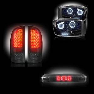 RECON - 2006 Dodge Ram Recon Smoked Headlights & Tail Lights & Third Brake Light Lighting Package