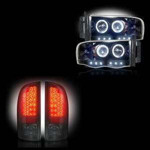 RECON - Dodge Ram 1500/2500/3500 2002-05 Recon Smoked Headlights & Tail Lights Lighting Package