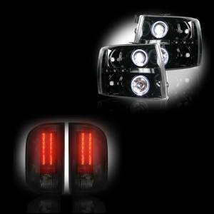 RECON - Chevrolet Silverado 2007-14 Recon Smoked Headlights & Tail Lights Lighting Package