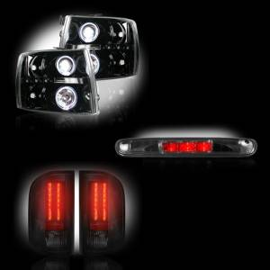 RECON - Chevrolet Silverado 2007-14 Recon Smoked Headlights & Tail Lights & Third Brake Light Lighting Package