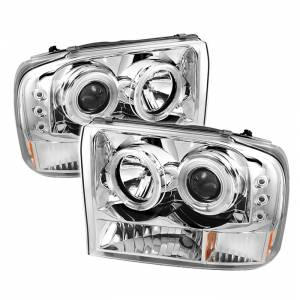 Spyder Chrome CCFL Halo Projector LED Headlights | 99-04 Ford F250 & 00-04 Ford Excursion | Dale's Super Store