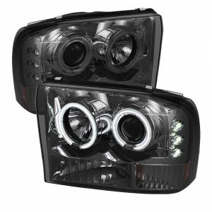 Spyder Smoke CCFL Halo Projector LED Headlights | 99-04 Ford F250 & 00-04 Ford Excursion | Dale's Super Store