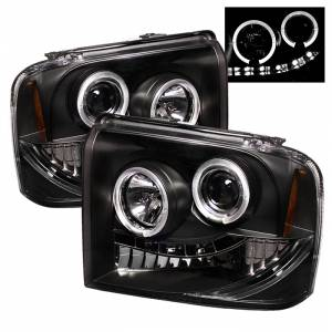 Spyder Black Halo Projector LED Headlights | 2005-2007 Ford Super Duty | Dale's Super Store