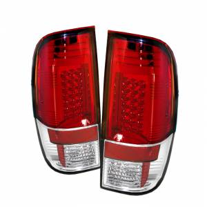 Spyder® Red Clear LED Tail Lights | 2008-2016 Ford Super Duty | Dale's Super Store