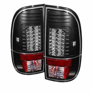 Spyder® Black LED Tail Lights | 2008-2016 Ford Super Duty | Dale's Super Store