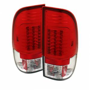 Spyder® Red Clear Version 2 LED Tail Lights | 2008-2016 Ford Super Duty | Dale's Super Store