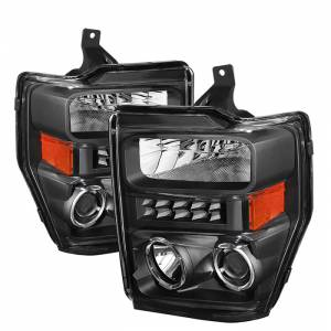 Spyder Black Halo Projector LED Headlights | 2008-2010 Ford Super Duty | Dale's Super Store