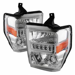 Spyder Chrome Halo Projector LED Headlights | 2008-2010 Ford Super Duty | Dale's Super Store