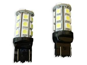 Outlaw Lights - 7443 24 SMD White LED Reverse Bulbs - Outlaw Lights