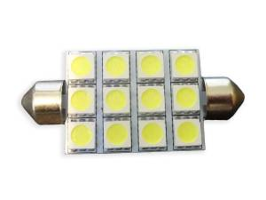 Outlaw Lights - 3 x 4 SMD Festoon 44 MM Festoon - White LED Interior Bulb - Outlaw Lights