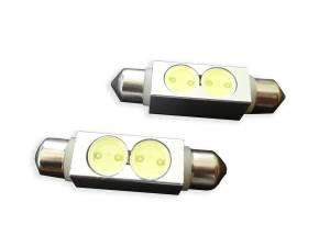 Outlaw Lights - 2 High Power Chip 44 MM Festoon - White LED Interior Bulb - Outlaw Lights