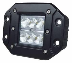 """Outlaw Lights - 3"""" Flush Mount Square LED Pod - 18 Watt  - Outlaw Lights"""