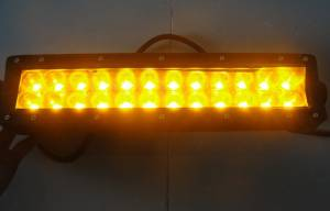 """Outlaw Lights - 13.5"""" Amber - White Switchback Light Bar - 72 Watt  - Outlaw Lights"""