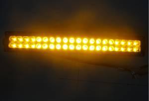 """Outlaw Lights - 21.5"""" Amber - White Switchback Light Bar - 120 Watt  - Outlaw Lights"""
