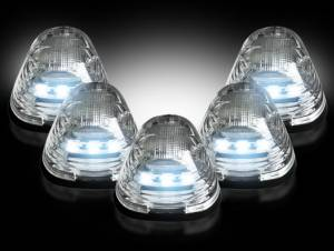 RECON - RECON 264143WHCL LED Cab Roof Lights CLEAR w/ WHITE LEDs Ford Superduty 99-16