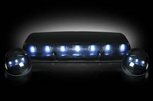 RECON - RECON 264155WHBK LED Cab Roof Lights SMOKED / WHITE LEDs Sierra/Silverado 02-07