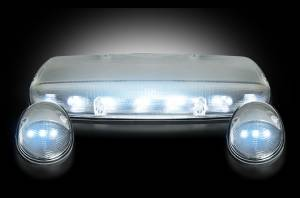 RECON - RECON 264155WHCL LED Cab Roof Lights CLEAR / WHITE LEDs Sierra/Silverado 02-07