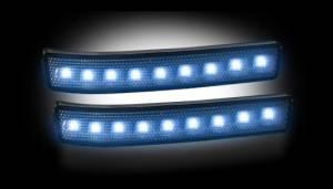 RECON - Recon 264241WHBK - SMOKED Side Mirror Lenses w/ WHITE LEDs F150 / Raptor 09-14