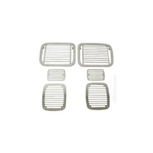 Rugged Ridge - Rugged Ridge Stone Guard Set Billet-Style 1987-1995 Jeep YJ Wrangler