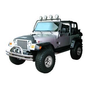 Rugged Ridge - Rugged Ridge Full Frame Light Bar Black 1997-2006 Jeep TJ/LJ Wrangler