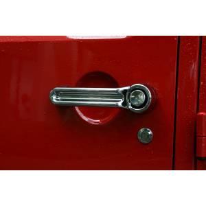 Rugged Ridge - Rugged Ridge Door Handle Cover Kit Chrome 2007-2012 Jeep 2-Door JK Wrangler