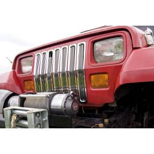 Rugged Ridge - Rugged Ridge Billet Grille Inserts Chrome 1987-1995 Jeep YJ Wrangler