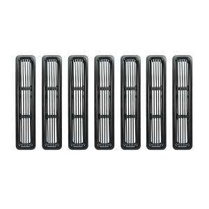 Rugged Ridge - Rugged Ridge Billet Grille Inserts Black 1997-2006 Jeep TJ And LJ Wrangler