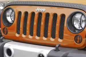 Rugged Ridge - Rugged Ridge Mesh Grille Insert Black 2007-2012 Jeep JK Wrangler