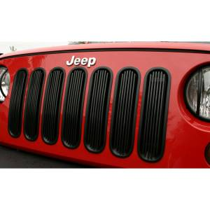 Rugged Ridge - Rugged Ridge Billet Grille Insert Black 2007-2012 Jeep JK Wrangler