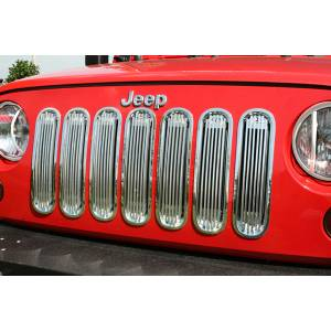 Rugged Ridge - Rugged Ridge Billet Grille Insert Polished Aluminum 2007-2012 Jeep JK Wrangler