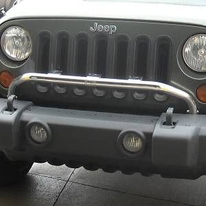 Rugged Ridge - Rugged Ridge Bumper Mounted Light Bar Stainless Steel 2007-12 Jeep JK Wrangler