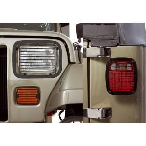 Rugged Ridge - Rugged Ridge Stone Guard Set Black 1987-1995 Jeep YJ Wrangler