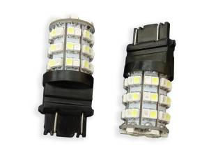 Outlaw Lights - 3157 60 SMD Amber / White Switch Back LED Turn Signals For 2011-15 Ford Superduty