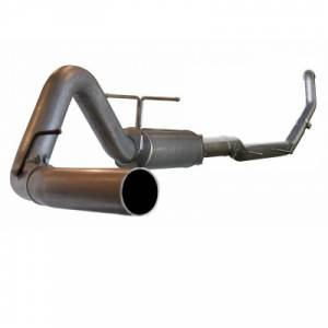 "aFe Power - AFE 49-13001 | LARGE Bore HD SS 4"" Turbo Back w/ Muffler - Ford 7.3L Powerstroke 94-97"