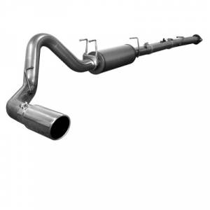 """aFe Power LARGE Bore-HD 4"""" Stainless Downpipe w/o Muffler Delete Pipe 