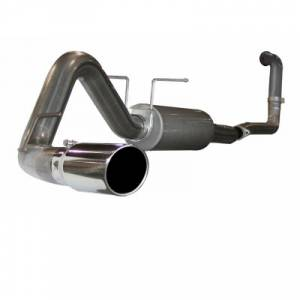 "aFe Power - AFE 49-43010 | MACH Force XP SS 4"" Turbo Back w/ Muffler (Retains Factory CAT) - Ford 6.0L Excursion 03-05"