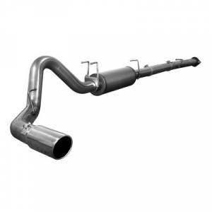 "AFE - AFE 49-43029 | MACH Force XP SS 4"" Downpipe Back w/ Muffler - Ford 6.4L Powerstroke 08-10"