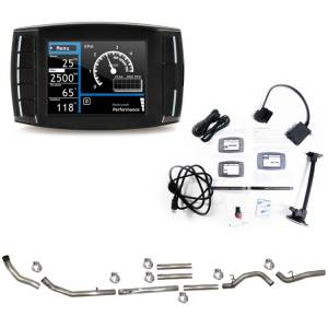 """H&S Mini Maxx Race Tuner and 4"""" Turbo Back Exhaust (No Bungs - No Muffler) Package for 6.4L Ford Powerstroke 2008-10"""