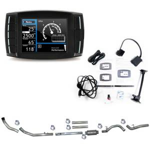 "H&S Mini Maxx Race Tuner and 4"" Turbo Back Exhaust (w/ Bungs) Package for 6.4L Ford Powerstroke 2008-10"