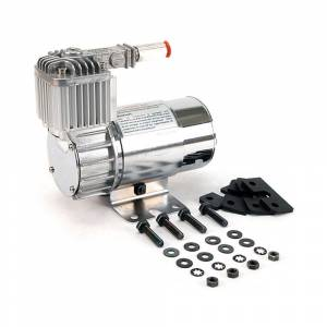 VIAIR 100C Chrome Air Compressor Kit with Omega Mounting Bracket | 10016 | Dale's Super Store