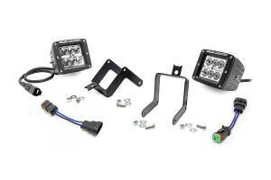 Rough Country 2-inch Cree LED Fog Light Kit | 2011-2016 F-250 & F-350 | Dale's Super Store