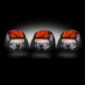 RECON Clear Cab Roof Light Kit with Strobe & Amber LED's (2003-2013 Dodge Heavyduty 2500/3500) # 264146CLS