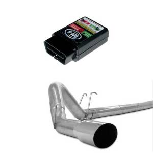"""GearBoxZ DPF-R Programmer & 4"""" Stainless Downpipe Back   2008-2010 6.4L Ford Powerstroke"""