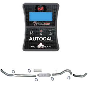 """Motor Ops Auto Cal & 4"""" Turbo Back Single Exhaust 