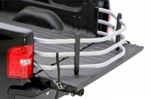 AMP Research - Innovation in Motion - Amp Research BEDXTENDER HD Small Trucks Silver Chevrolet S-Series - Standard Bed 1996-04 (requires 74601-01 for installation) GMC Sonoma - Standard Bed 1996-04 (requires 74601-01A for installation)