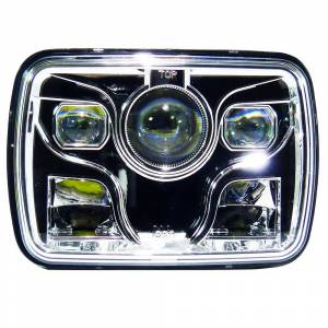 "Outlaw Lights 5"" x 7"" Square LED Headlights with Sealed Beam 
