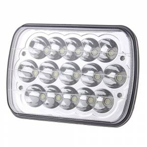 "Outlaw Lights 5"" x 7"" Square LED Headlights with Sealed Duel Beam 