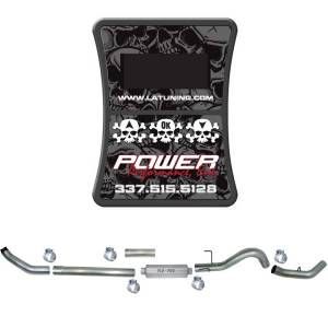 "PPEI EFILive AutoCal & 4"" Turbo Back Single Exhaust w/Muffler, No Bungs 